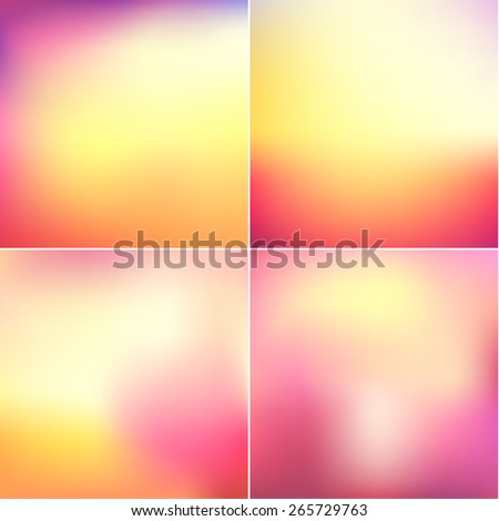 Colorful blurry backgrounds set - eps10  - stock vector