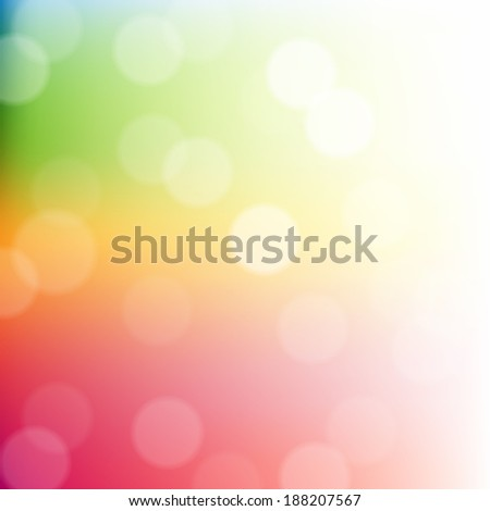 Colorful Bokeh Background, With Gradient Mesh, Vector Illustration - stock vector