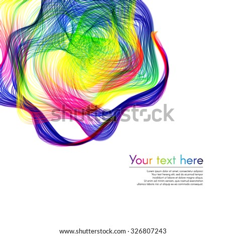 Colorful bright rainbow abstract background with text banner - stock vector