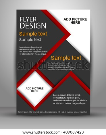 Colorful Brochure vector design. Flyer template for business, education, presentation, magazine cover. eps10 - stock vector