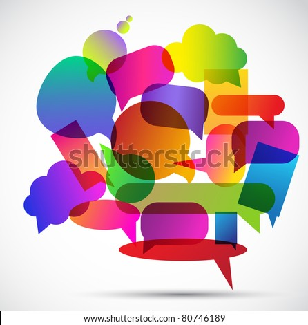 Colorful bubbles for speech - stock vector