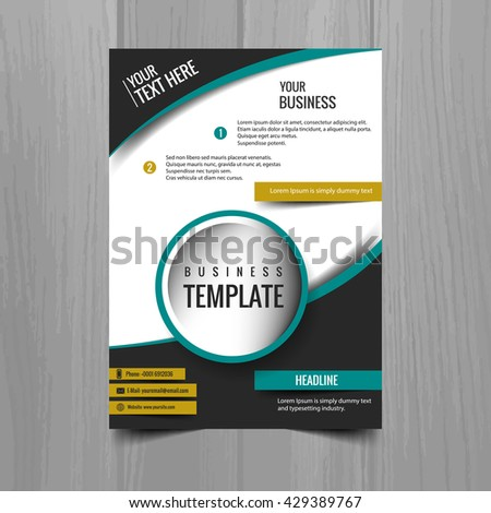 Colorful business brochure - stock vector