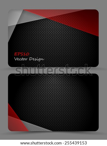 colorful business card template with copy space. Eps10 - stock vector