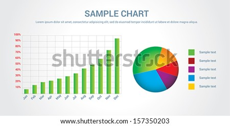 Colorful chart, infographic, vector illustration - stock vector