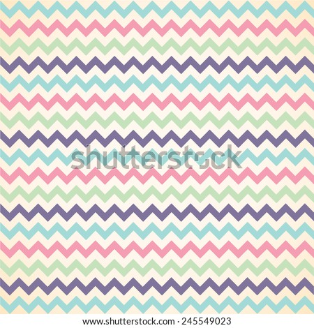 Colorful Chevron pattern for eggs easter day vector design - stock vector