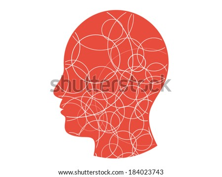 Colorful circle background head presentation vector illustration graphic template isolated on white background - stock vector