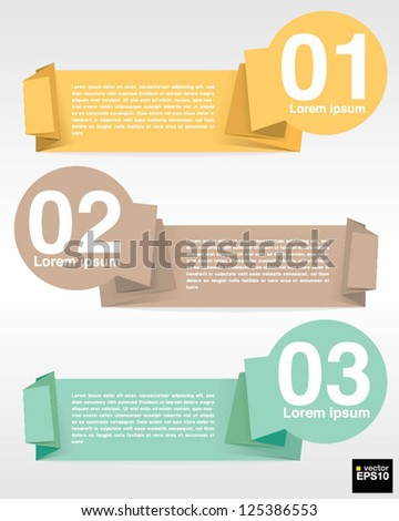 Colorful circle banner template vector.EPS10 - stock vector