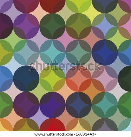 Colorful circle seamless pattern. Retro seamless pattern with circles. Colorful vector background. - stock vector