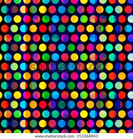Colorful circles seamless pattern.  - stock vector