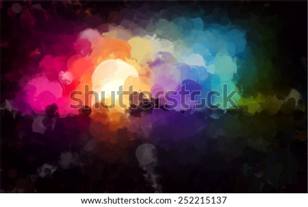 Colorful cloud brush strokes background. Vector version - stock vector