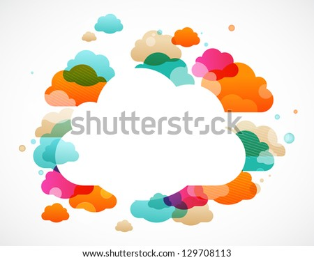 colorful clouds - abstract vector background - stock vector
