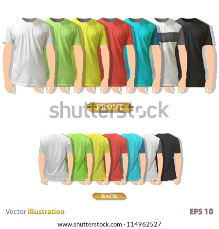 Colorful collection of shirt design. Vector illustration. - stock vector