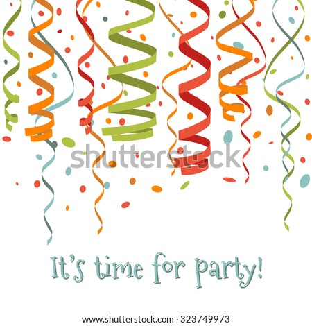 Colorful confetti isolated on white background - stock vector