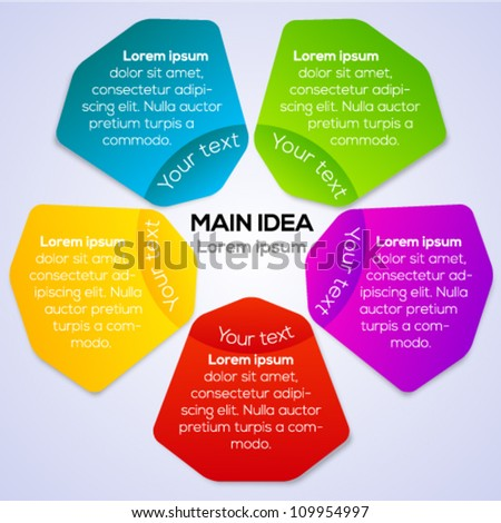 Colorful connection banner concept for different business design. Vector illustration. - stock vector
