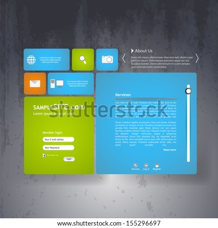Colorful Corporate Website template - stock vector