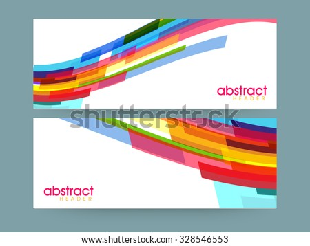 Colorful creative Abstract design decorated, website header or banner set for your company and organization. - stock vector