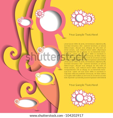 Colorful creative modern abstract vector - stock vector