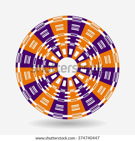 Colorful curled sing vector design. - stock vector