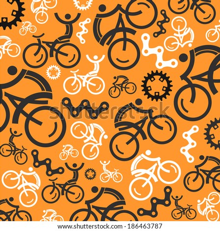 Colorful cycling background. - stock vector