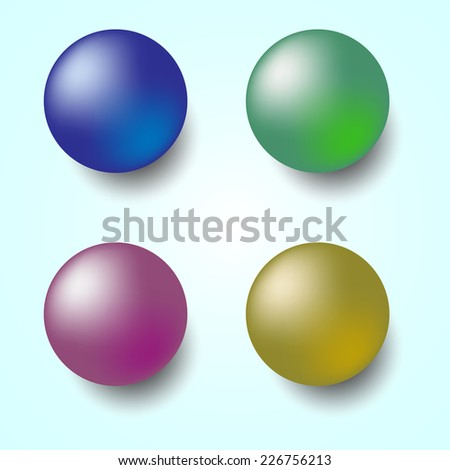 Colorful 3D sphere isolated on white background, stock vector - stock vector