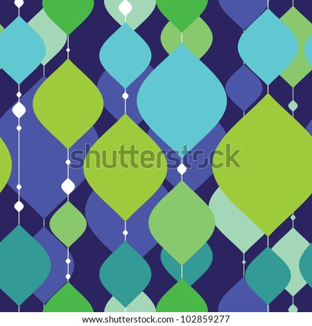 Colorful decorative elements - seamless pattern - stock vector
