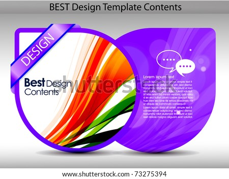 Colorful design template background.editable vector illustration - stock vector