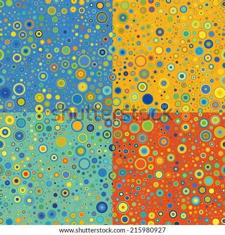 Colorful Dotted Abstract Background - stock vector