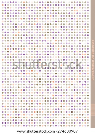 Colorful dotted seamless Pattern.  Abstract Design. Pale Colors Purple, Green, Orange - stock vector