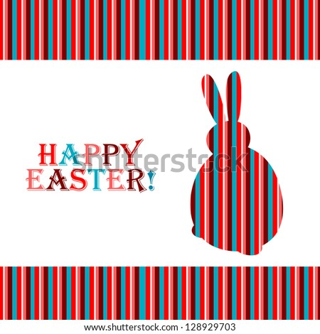 Colorful easter card with copy space - stock vector