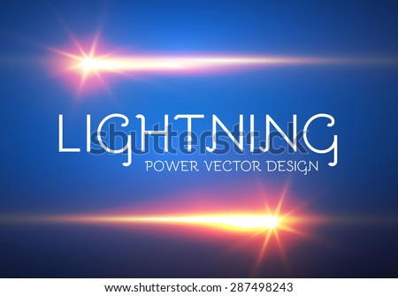 Colorful electric power flash. Vector illustration   - stock vector