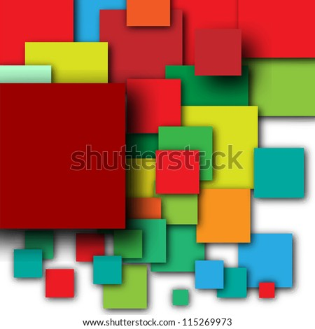 Colorful empty squares - stock vector