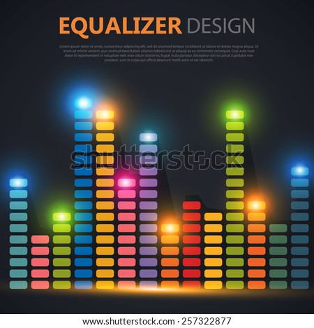 Colorful equalizer. Vector illustration - stock vector
