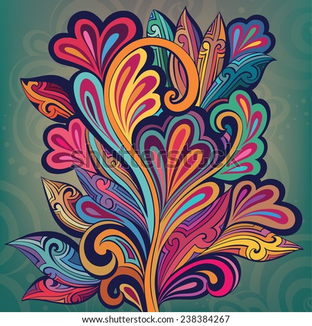 Colorful fabulous tree - stock vector