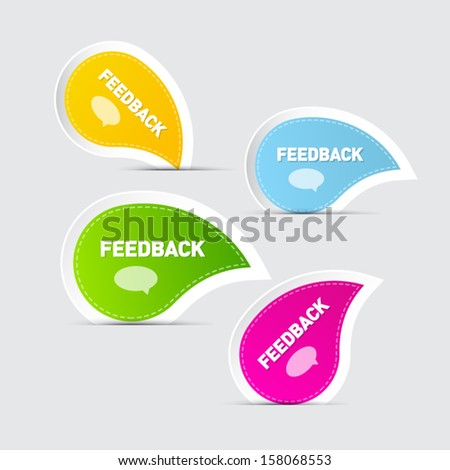 Colorful Feedback Icons  - stock vector