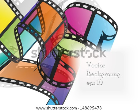 colorful film - stock vector
