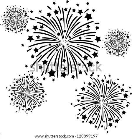 Go Back > Gallery For > Fireworks Black And White Clip Art Free
