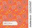colorful floral batik pattern (seamlessly tiling) - stock vector