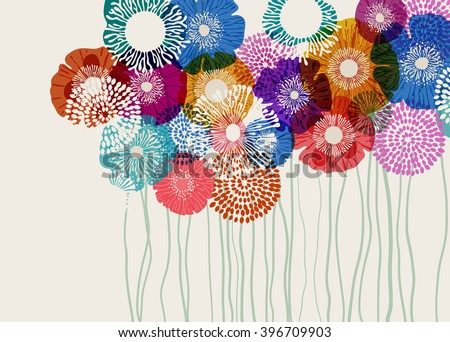 Colorful flower background, eps10 vector - stock vector
