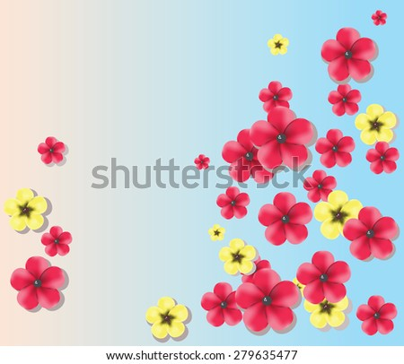 Colorful flowers. Spring and summer background. Vector - stock vector