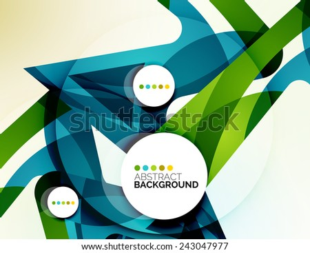 Colorful fresh modern abstract background of wave shapes - stock vector