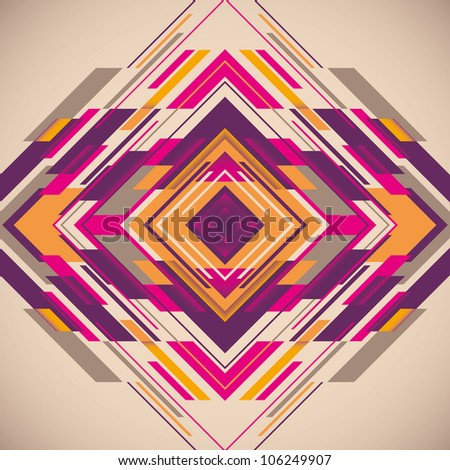 Colorful futuristic abstraction. Vector illustration. - stock vector