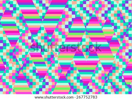 Colorful geo pattern ~ seamless background - stock vector