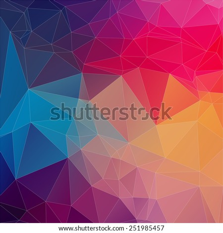Colorful geometric abstract background - Illustration - stock vector