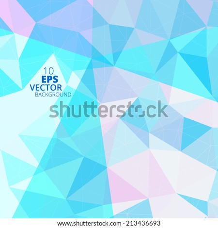 Colorful geometric pattern. Triangles background. Polygonal design. - stock vector
