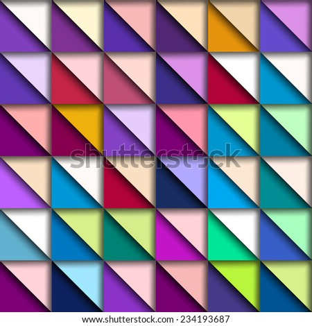 Colorful Geometric Pattern, vector eps10 illustration - stock vector