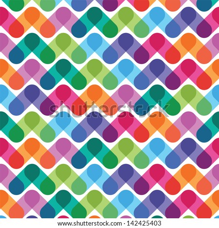 colorful geometrical abstract seamless pattern - stock vector
