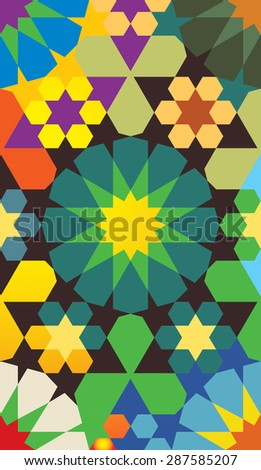 Colorful geometrical pattern - stock vector