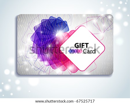 Colorful Gift Card - stock vector