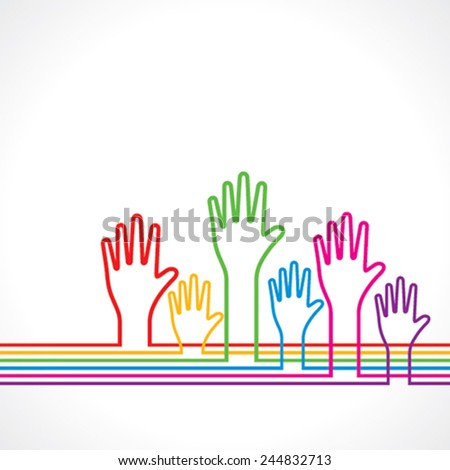 Colorful hand background stock vector  - stock vector