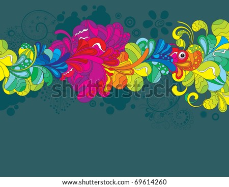 Colorful hand drawn illustration for your design idea. - stock vector